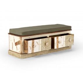Lavice na sezení z exotického dřeva Charles
