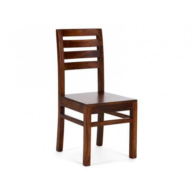 Hnědá židle z masivního dřeva Kashmir