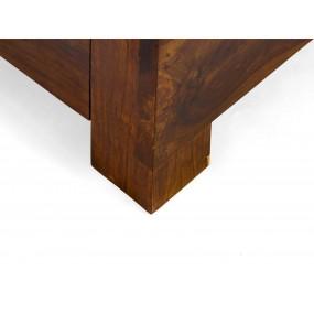 Masivní postel hnědé palisandrové dřevo Sheesham 180x200