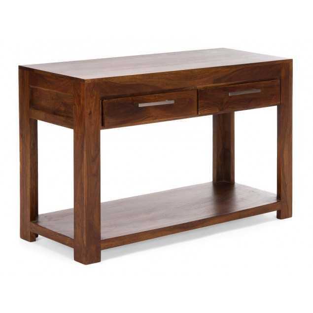 Hnědý konzolový stolek z palisandru Kashmir