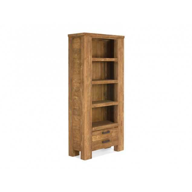 Masivní knihovna z teakového dřeva Mojo