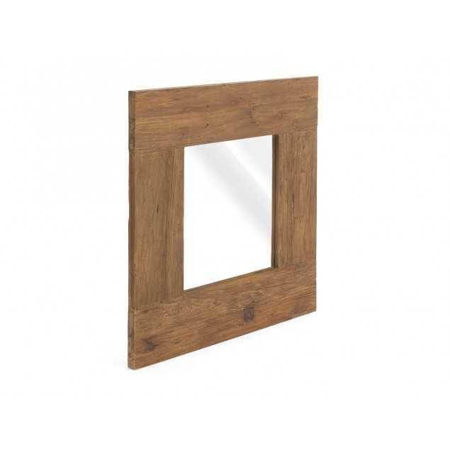 Masivní zrcadlo teakové Mojo
