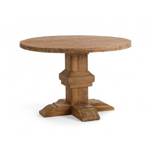 Kulatý jídelní stůl rustikální Mojo