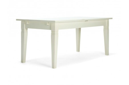 Bílý jídelní stůl z masivní borovice Jodpur