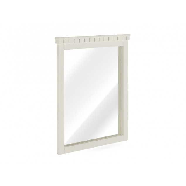 Bílé nástěnné zrcadlo z masivu