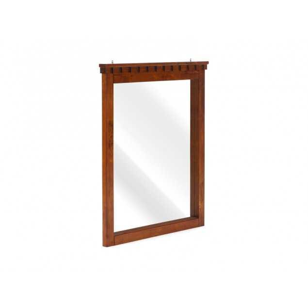 Hnědé zrcadlo na stěnu Constantin