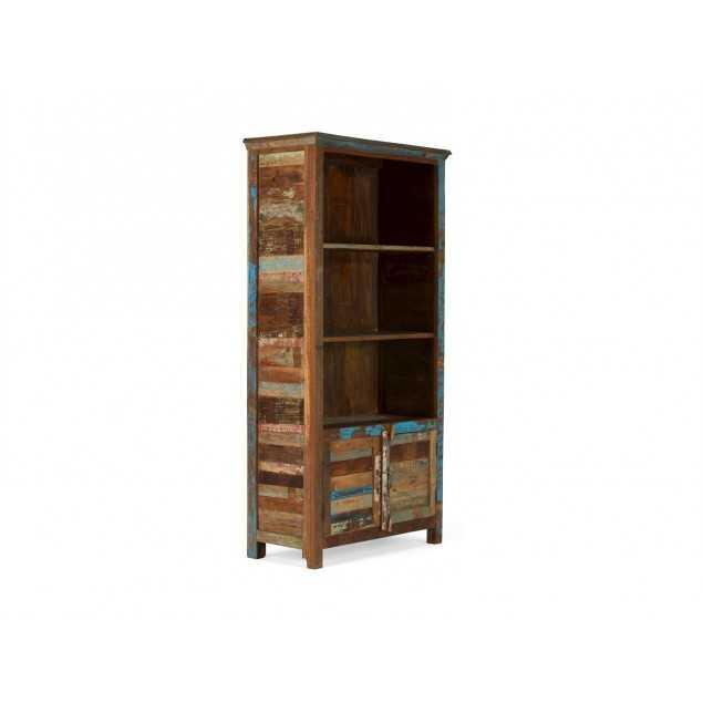 Masivní knihovna z exotického dřeva Agra