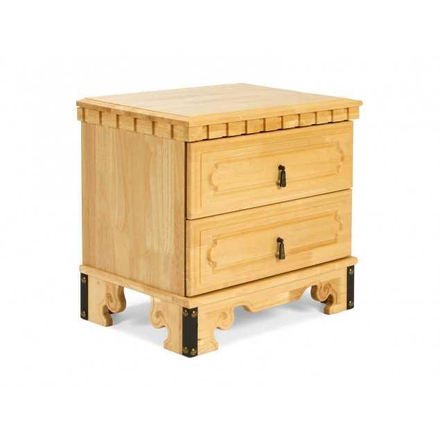 Masivní noční stolek v přírodní barvě Constantin