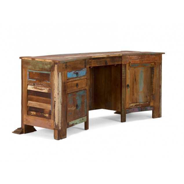 Masivní dřevěný psací stůl z teakového dřeva Agra