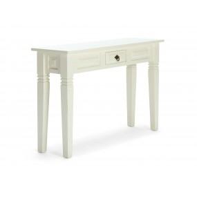 Bílý konzolový stolek z borovice Jodpur