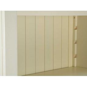 Stylová bílá knihovna z masivního dřeva Jodpur