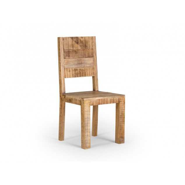 Masivní dřevěná židle Kalkata