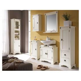 Bílá koupelnová skříňka na stěnu Jodpur