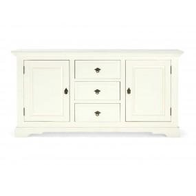 Elegantní příborník z masivního dřeva Jodpur bílý