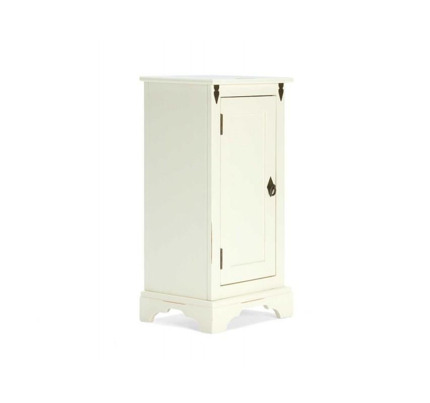 Bílá koupelnová skříňka z masivu Jodpur