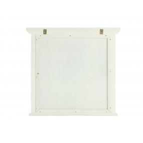 Bílé zrcadlo 75x70 z masivního dřeva Jodpur