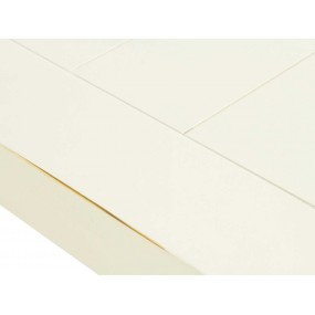 Bílý konferenční stolek 130x65 z masivu Jodpur