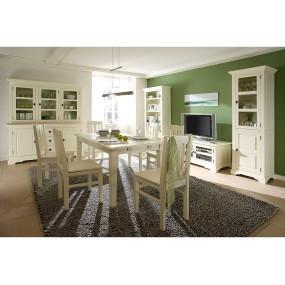 Rustikální jídelní stůl 90x90 Jodpur bílý