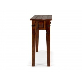 Rustikální konzolový stolek Jodpur hnědý