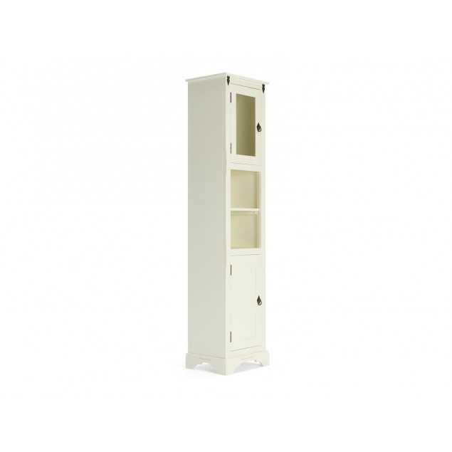 Bílá skříň do koupelny masivní Jodpur
