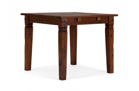 Hnědý jídelní stůl 90x90 masivní borovice Jodpur
