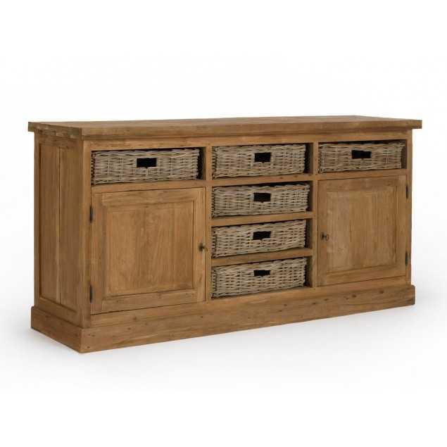 Dřevěný příborník z teakového masivu Casablanca