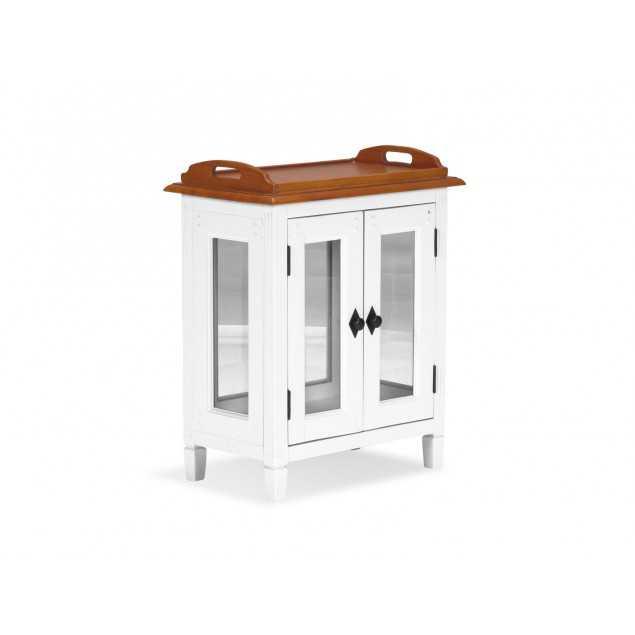 Dřevěná barová komoda Gotland bílý