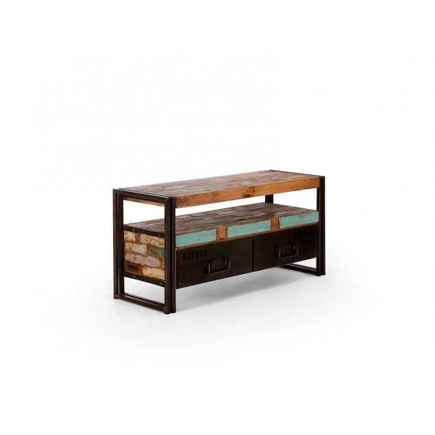 Starožitný dřevěný tv stolek Ontario