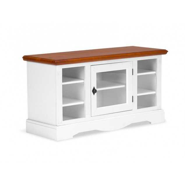 Bílý stolek pod televizi Gotland