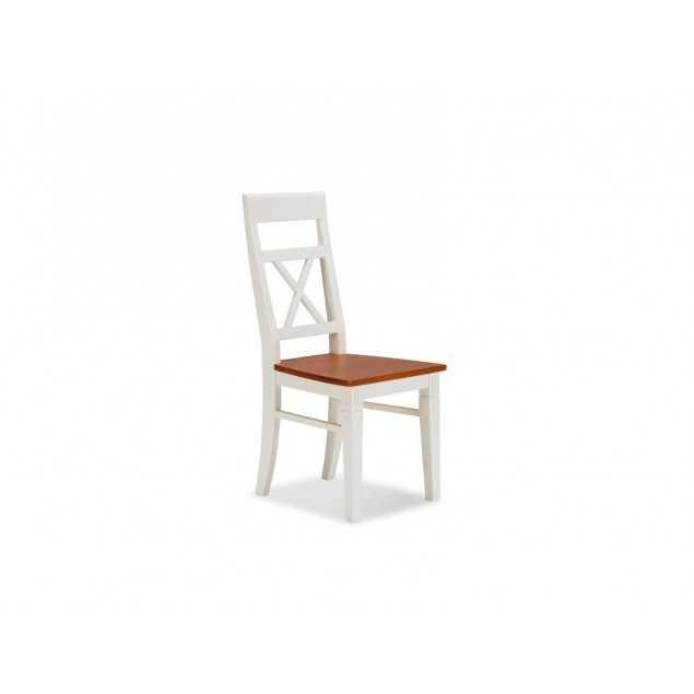 Bílá jídelní židle masivní borovice Gotland