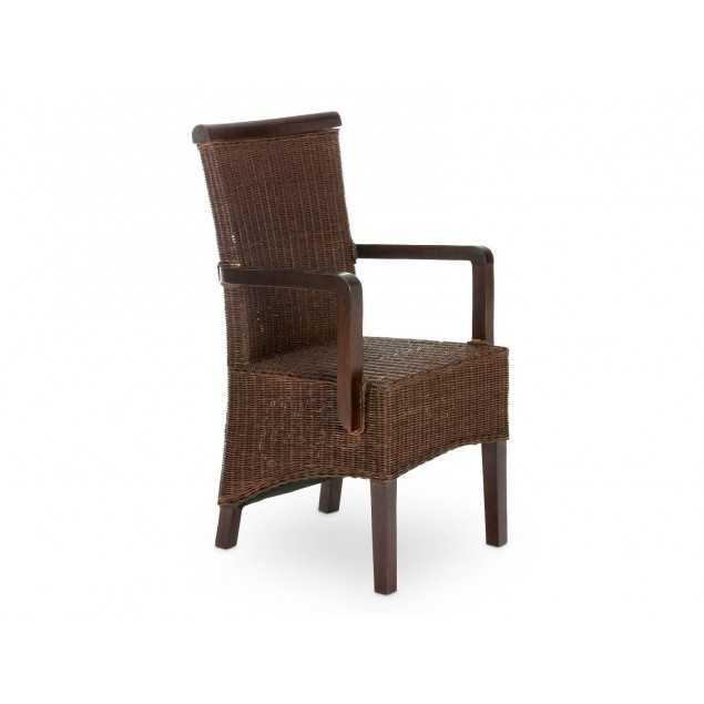 Ratanová židle s područkami Milano