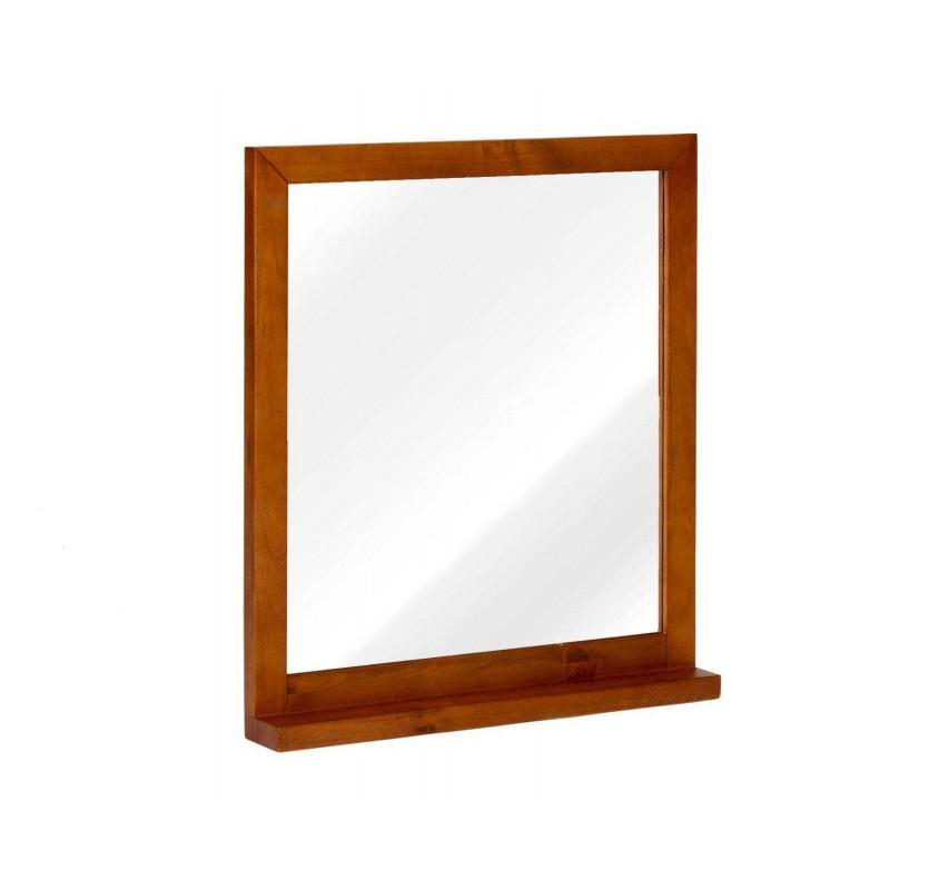 Zrcadlo s masivním rámem z borovice hnědé Eufrat