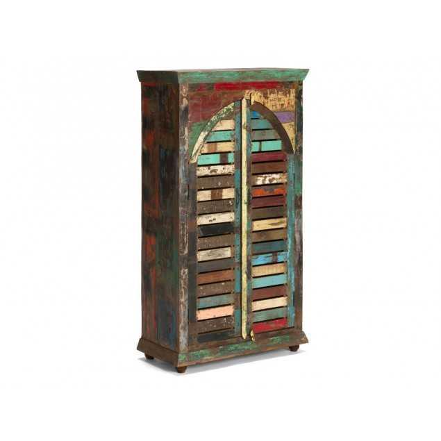 Masivní šatní skříň z exotického dřeva Agra