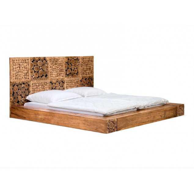 Moderní postel z palisandru Caroline