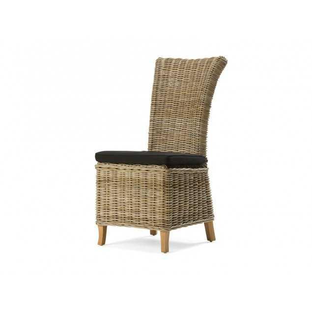 Ratanová židle s černou poduškou Casablanca