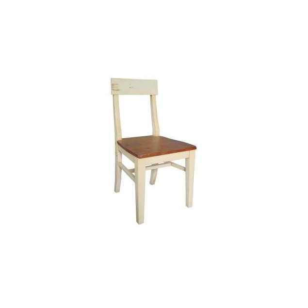 Krémová jídelní židle z masivu Kolumbia