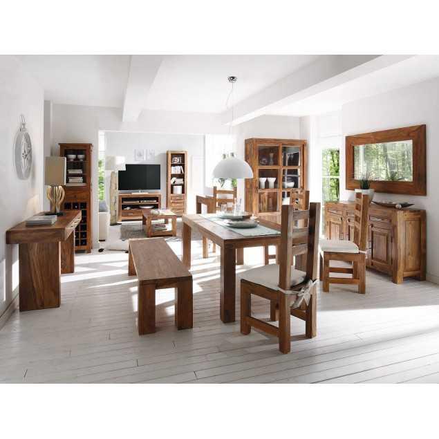Jídelní stůl 150x90 s lavicí a 4 židlemi Squarus