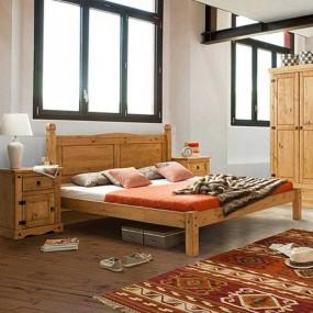 Masivní manželská postel 180x200 Mexiko