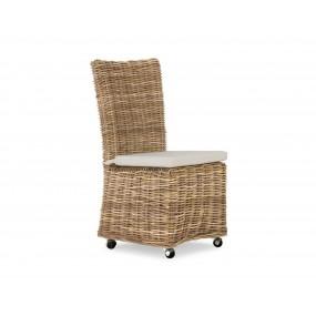 Ratanová židle šedá Onaca