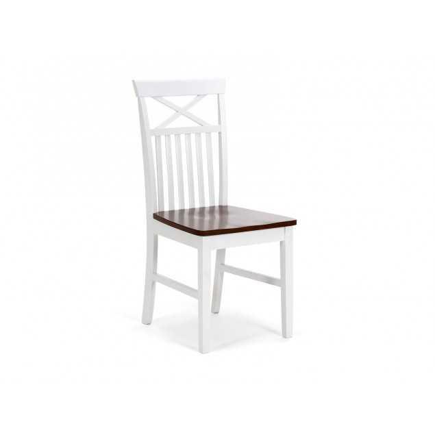 Bíla židle z masivní Borovice Caprera