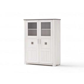 2-dveřový příborník Malmö bílý