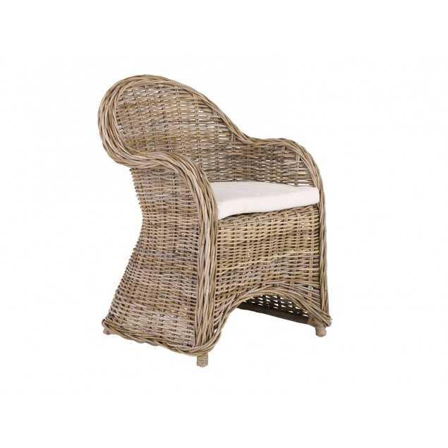 Ratanová židle s opěradly včetně polštářků Mali