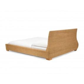 Manželská postel Manisa z ratanu