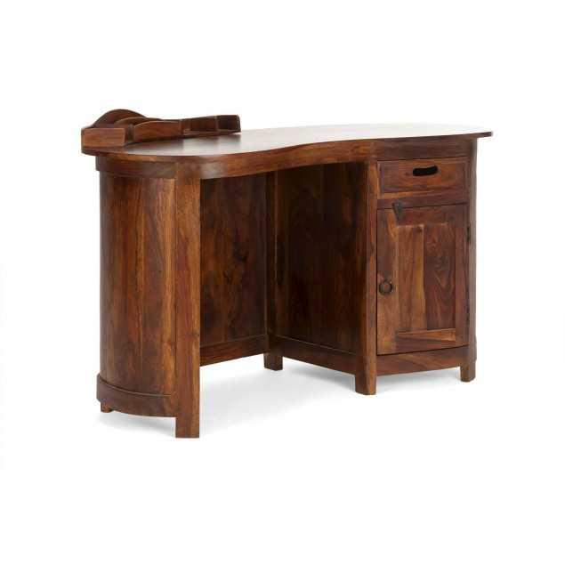 Oválný psací stůl z palisandru Monroe