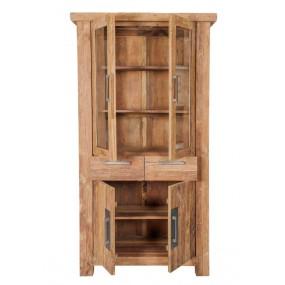 Dřevěná vitrína z teakového dřeva Java