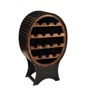 Černý dřevěný bar Sicilia
