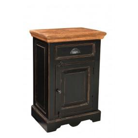 Černý noční stolek Sicilia