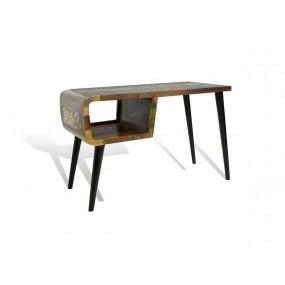 Barevný tv stolek Heat z recyklovaného dřeva palisandr