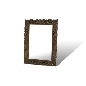 Dřevěné zrcadlo z masivu India