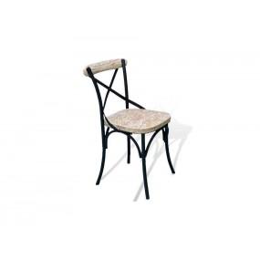 Designová židle do jídelny černobílá Oxy